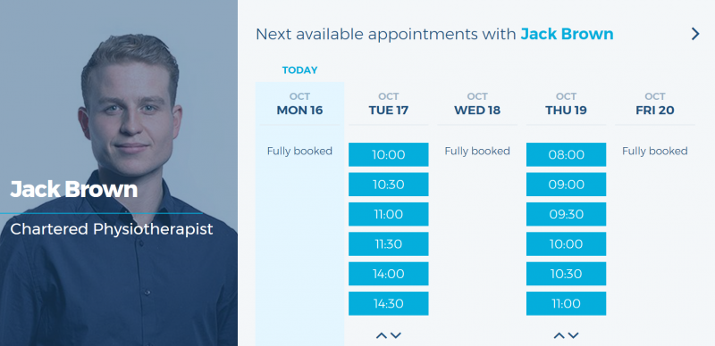 book physiotherapy appointments online capital physio